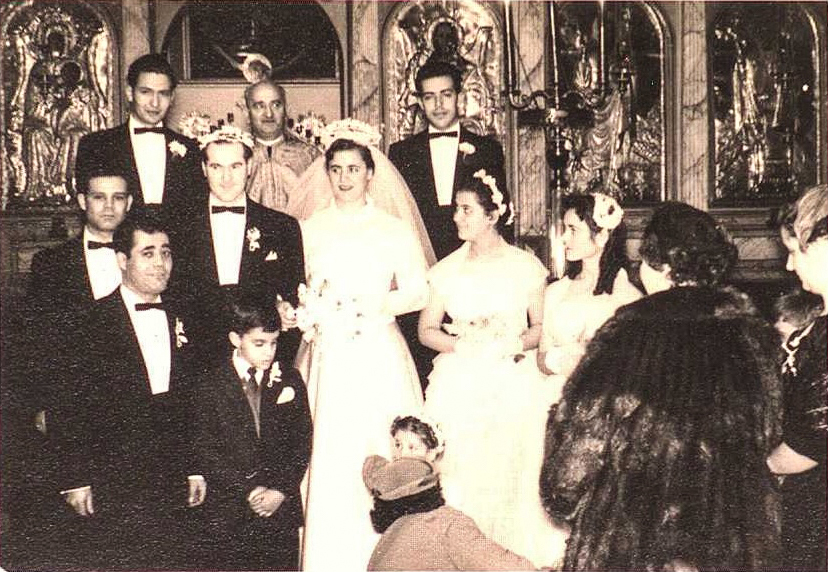 """Wanted""  Wedding in the Holy Trinity. Montreal. Nicky Kontapini's Photo Archive.  Source: Immigrec"
