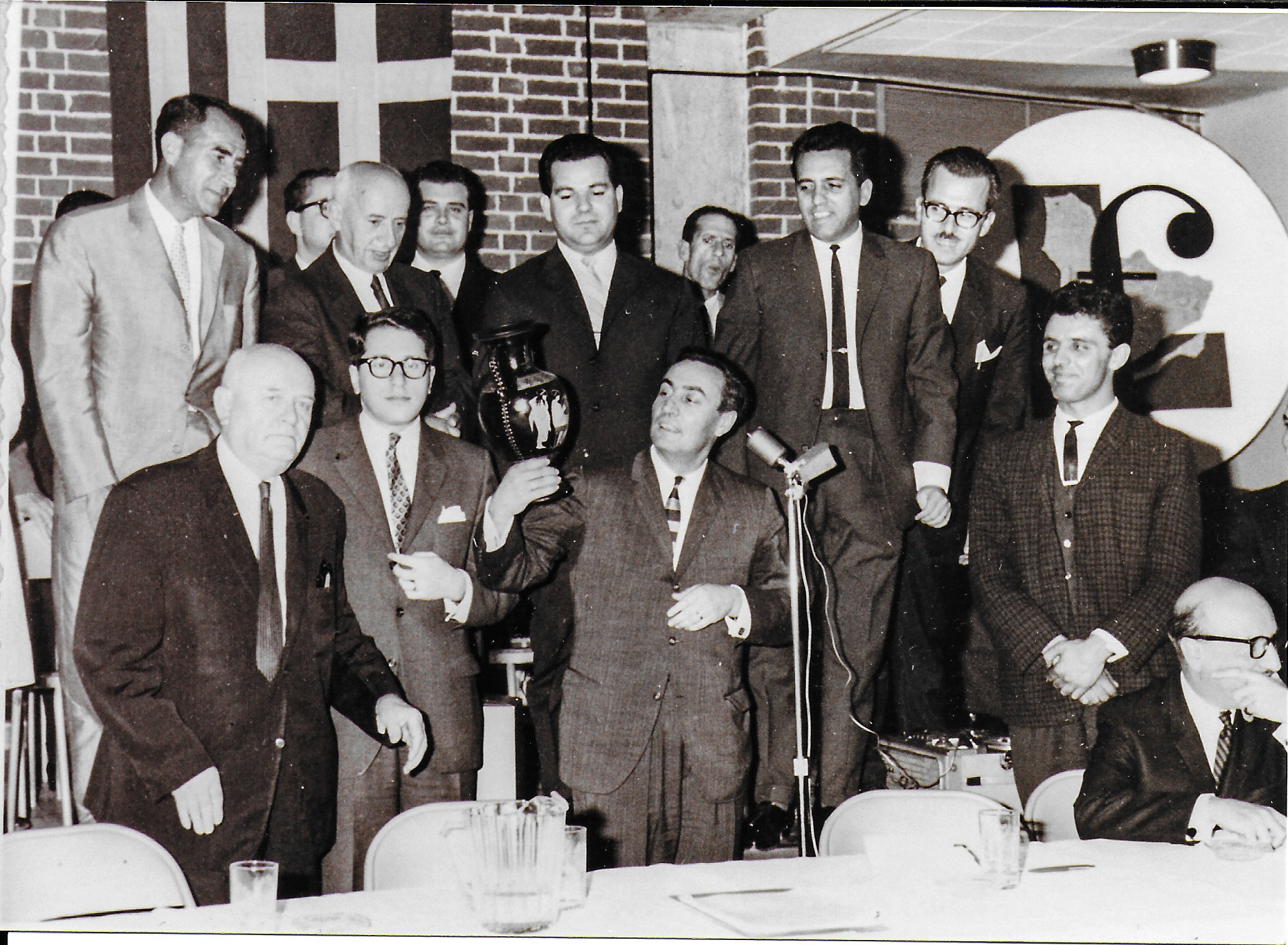 Meetings Meeting of the Minister of Immigration, Mr Rene Tremblay, with members of Cretan Montreal Association, 1964. Source: Gavaki Photo Archive